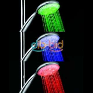 Automatic Control Temperature Sensor 3 Color LED Hand Held Spray