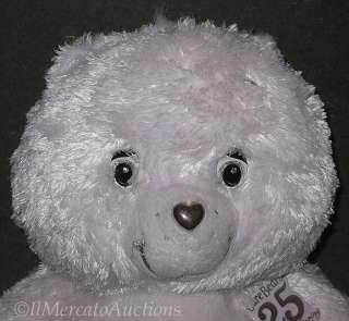 2007 White TENDERHEART CARE BEAR Plush Doll Toy 25th
