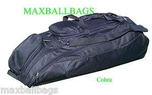 Black Cobra Baseball Softball Bat Equipment Roller Bag