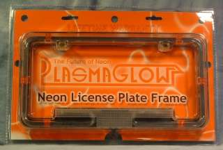 Red Neon License Plate Frame PlasmaGlow New