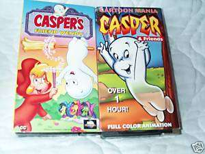 CASPERS FRIEND WENDY & CASPER THE FRIENDLY GHOST 2 VHS