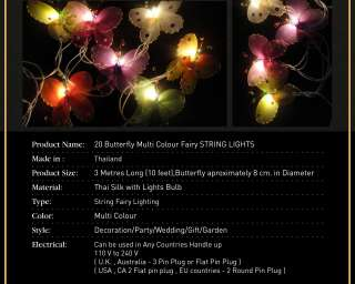 Multi Colour Fairy Lights String 3.5M PARTY,PATIO,WEDDING