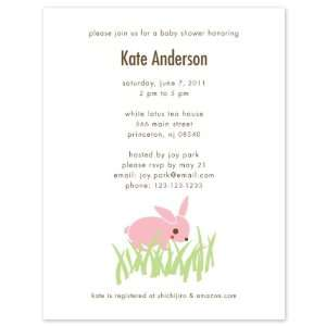 Rabbit Baby Shower Invitations Set of 20 Girl Office Products