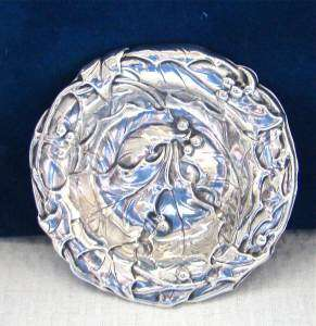 STERLING SILVER PIN TRAY BON BOWL OPEN SALT CELLAR~repousse~GORHAM