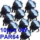 4pcs PAR 64 CAN RGB 177 LED DJ stage Disco DMX 10 ch