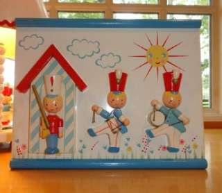 Vtg~IRMI~Nursery~Soldier~Wooden~Musical Lamp~Wall Decor~Night Light
