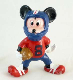 Vintage Mickey Mouse PVC Figurine Football Player Sport