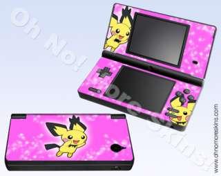 Nintendo DSi Skin Vinyl Decal   Pokemon Pichu #2, Pink