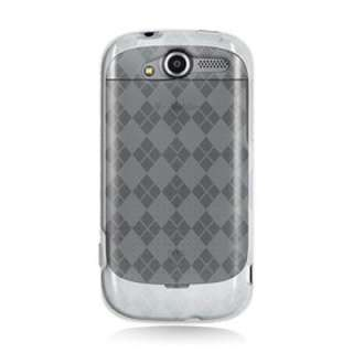 HTC myTouch 4G Clear Gummy Case with Checker Design