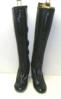 Enzo Angiolini CHESSA Black Synthetic Tall Boots Sz 7.5