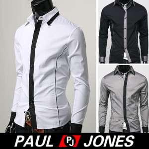 New Mens Casual Dress Shirts Unique Design Smart *