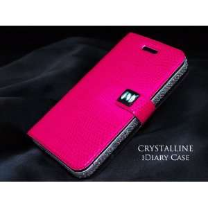 Edge Skin with Pink Faux Leather Snakeskin iDiary Case Electronics