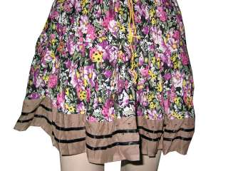 Fashion Skirt Purple Brown Gypsy Bohemian Boho Cotton Short Skirts