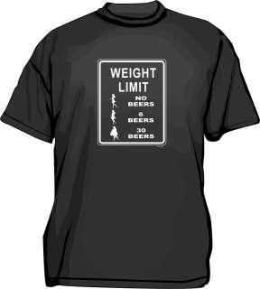 Weight Limit Fat/Skinny Girl Sign logo Mens tee Shirt