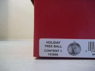 HOLIDAY HEIRLOOMS RED TREE GLASS Ball CHRISTMAS ORNAMENT MIB