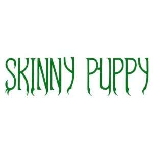 Skinny Puppy   Blue Logo Cut Out Decal