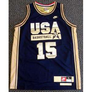 Magic Johnson Autographed Nike Blue Team USA Jersey Dream