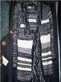 NWT City Girl ladies cute long black/winter white sweater s xl reg. $