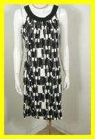 NEW JESSICA HOWARD Black & White Jersey Print Dress 14 NWT 6803