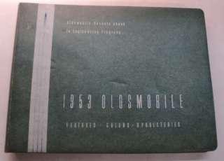 Oldsmobile 1953 Dealer Showroom Album w/ Paint Chips