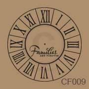 Families Are Foever Clock Face Vinyl Wall Decor Decal Sticker Quote