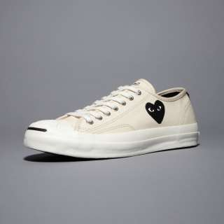 CDG PLAY Jack Purcell White/Black Heart Comme des Garcons Clot Shoes
