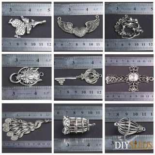 Jewelry Making Tibetan Silver Vintage Large Pendant Charms Pendant