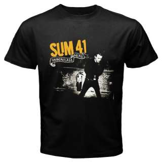 NEW SUM 41 ROCK BAND BLACK T SHIRT   YELLOW SIZE S 3XL
