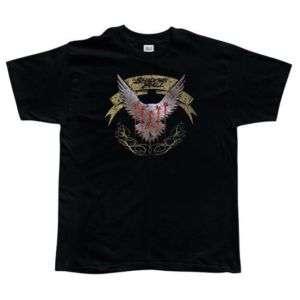 Shadows Fall Silver Hawk T Shirt Large