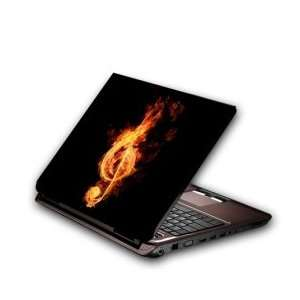 Flaming Note Notebook Cover Protective Skin Sticker