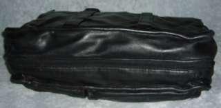 TUMI 904 ALPHA BLACK LEATHER EXPANDABLE LAPTOP BRIEFCASE
