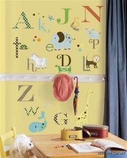 Animals Alphabet Kids/Nursery Play Wall Sticker Decals