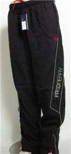 MENS FRED PERRY BLACK TRACKSUIT PANTS BOTTOMS BRAND NEW BNWT SIZE