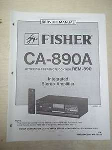 Fisher Service/Repair Manual~CA 890A/891 Amplifier/Amp