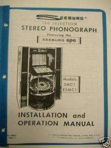 Seeburg SMC1 ESMC1 Jukebox Install & Operation Manual