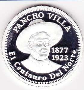Mexico Pancho Villa Silver .999 El Centauro del Norte.