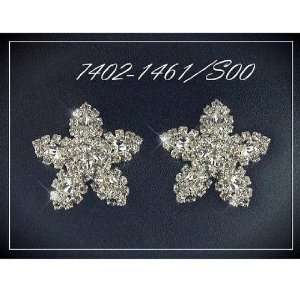 Exclusive Wedding Strass Earrings, Crystal/Silver, High Quality Czech