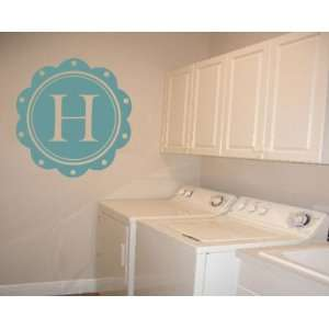 Border Letter H Monogram Letters Vinyl Wall Decal Sticker Mural Quotes