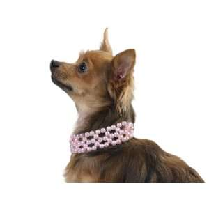 Aria Elegant Light Pink Faux Pearl Dog Necklace Collar