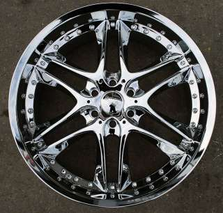 RVM 381 22 CHROME RIMS WHEELS GMC ENVOY 6x127 RAINIER