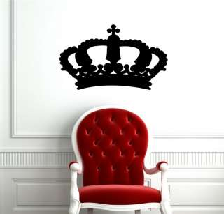 KING CROWN QUEEN ABSTRACT DESIGN CUTE WALL VINYL STICKER DECAL ART