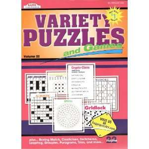 Variety Puzzles and Games Volume 22 Kappa Books Books