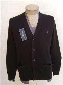 Polo Ralph Lauren Cardigan Sweater Pima Cotton Mens Button Jacket