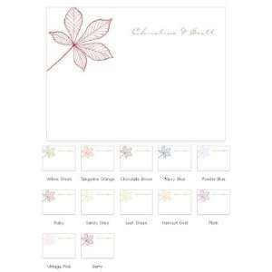 Autumn Leaf Blank Note Cards (Set of 6   12 Colors