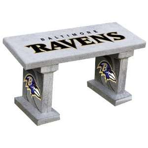 Ravens Hand Painted Concrete Garden Bench Patio, Lawn & Garden