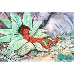 Jim Salvati Sleepy Cub Jungle Book mowgli Original Art
