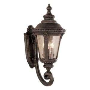 Trans Globe 3 Light Outdoor Wall Lantern Rust