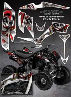 YAMAHA RAPTOR 350 GRAPHICS DECALS THE EVIL JESTER