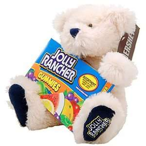 Jolly Rancher White Teddy Bear (with candy included) Toys & Games