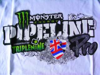 Monster tirplenine rock white racing men shirt size XL